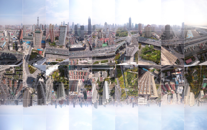 Shanghai - Timespace - Following the North - South Elevated High by Wouter van Buuren
