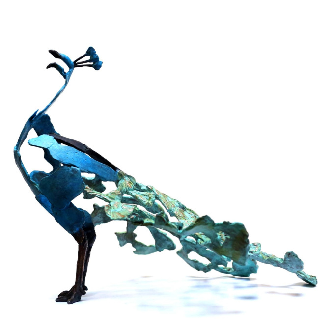 'Crowing' Peacock by Jozephine Wortelboer