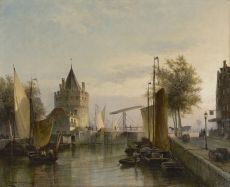 A view of the Schreierstoren, Amsterdam by Cornelis Christiaan Dommelshuizen