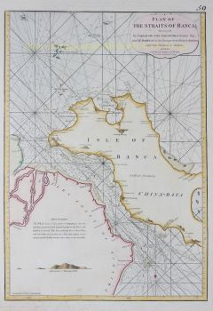 Indonesia, Straits of Banca  by  Laurie and Whittle