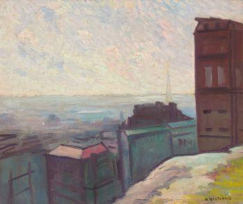 Parisian Cityscape by Antonius Johannes Kristians