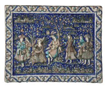 Qajar Tile by Unknown Artist