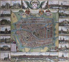 BEROEMDE WANDKAART VAN LEIDEN   by Dou, Johannes (1615-1682)