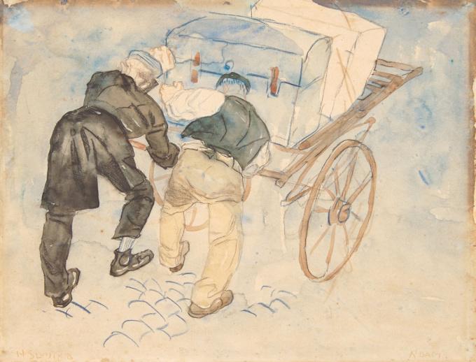 Luggage carriers by Jan Sluijters
