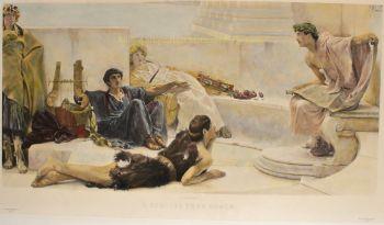 Reading from Homer  by Lawrence Alma-Tadema