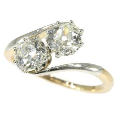 Belle Epoque toi and moi engagement ring with two one carat diamonds by Unknown