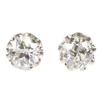 Vintage diamond Art Deco ear studs by Unknown Artist