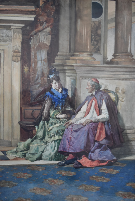 The Confession of a beauty. by Cesare Maccari
