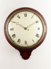 A fine English mahogany dial wall timepiece, circa 1820. by Unknown Artist