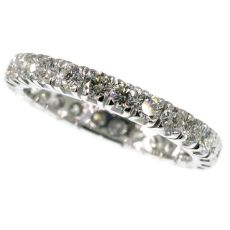 18K white gold estate eternity band with 2.50 carat diamonds by Unknown Artist