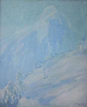 Sneeuwbui, Olden by Willem Dooijewaard