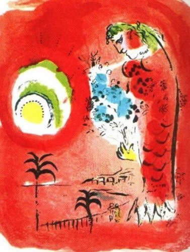 La Baie des Anges by Marc Chagall