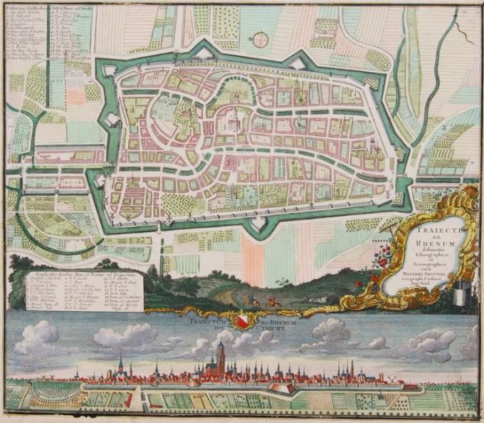 Map of Utrecht by Matthias Seutter