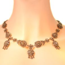 Antique Victorian diamond necklace by Unknown Artist