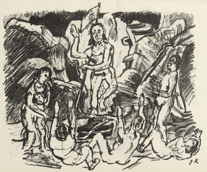 Auferstehung / Resurrection by Oskar Kokoschka