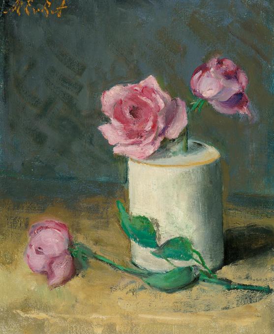 Pink roses by Marie Van Regteren Altena