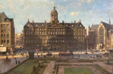 The Royal Palace And The Nieuwe Kerk On Dam Square, Amsterdam by Cornelis Vreedenburgh