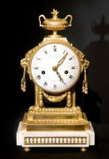 A French gilted bronze Louis Seize Mantel clock by Charles Bertrand