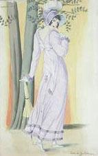 Dame met parapluie by Lodewijk Bruckman
