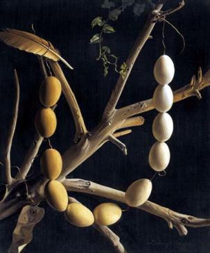 Chain of eggs by Lodewijk Bruckman