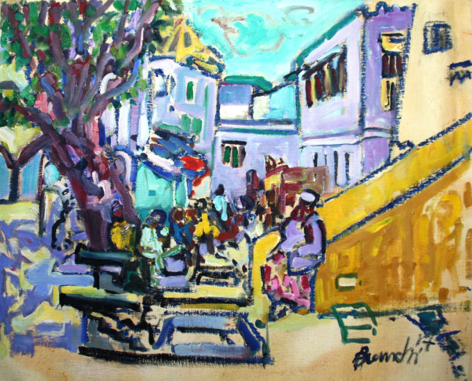Square Lamu town by Frans Bianchi