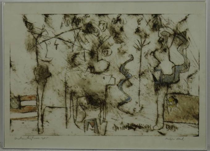 Etching by Anton Heyboer