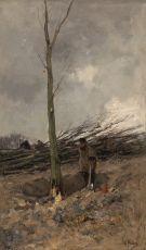 Lumberjack by Anton Mauve