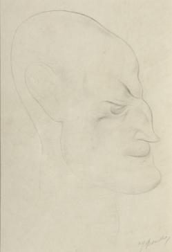 Kop, driekwart naar rechts by Jacob Bendien