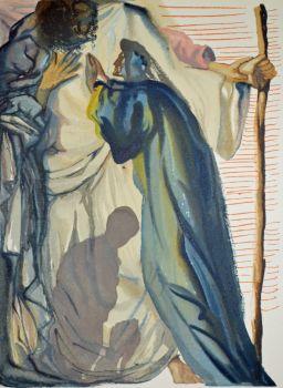 Divina commedia purgatorio 14 by Salvador Dali
