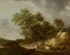 A herdsman in a landscape