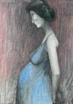 Pregnant woman by François Brochet