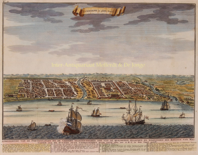 VIEW OF SOMBA OPU, DUTCH EAST INDIA COMPANY TRADING POST by Valentyn, Francois (1666-1727)