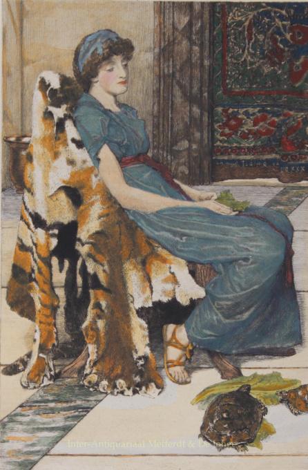 QUIET PETS    by Lawrence Alma-Tadema