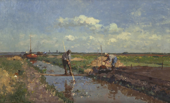 Peat cutters by Cornelis Vreedenburgh
