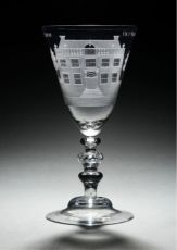 Goblet with 'De Hoornderegt' by Unknown Artist