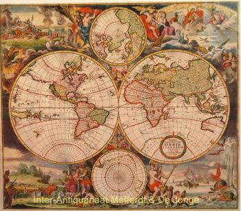 World map  by  Romeyn de Hooghe  David Funcke