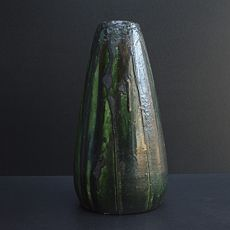 Large art nouveau vase with experimental glaze by arthur craco