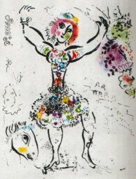 La Jongleuse by Marc Chagall
