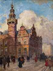 The Gravenstraat in Den Haag with the Old Town Hall by Ben Viegers