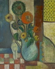 A still life with flowers I by Herman Kruyder