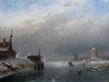 Winter in Holland by Charles Leickert