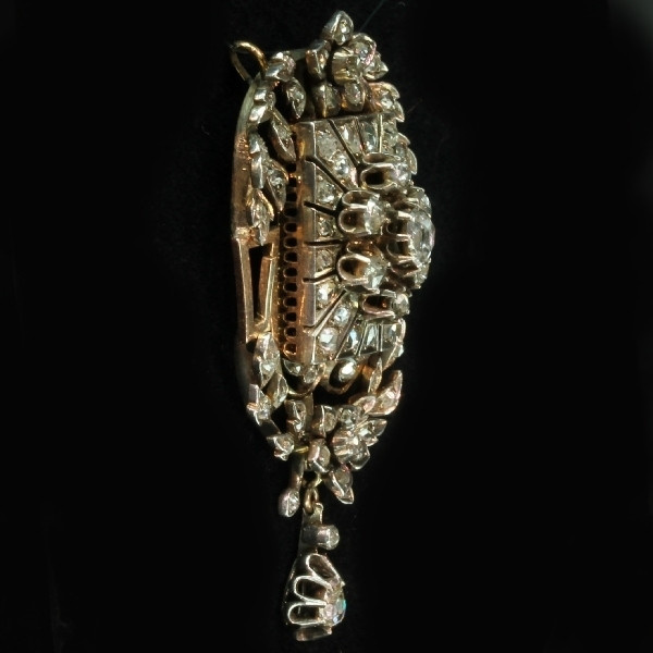Victorian rose cut diamond pendant by Unknown Artist