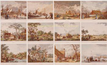 The Twelve Months  by  Izaak de Wit Jansz. after Jacob Cats