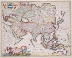 Asia antique map  by  Visscher