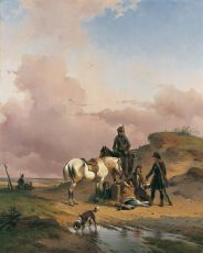 After the hunt by Joseph Jodocus Moerenhout