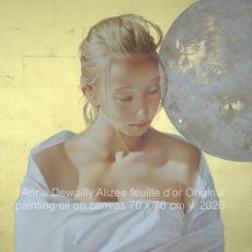 Alizee feuille d'or  by Anne Dewailly