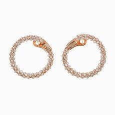 Circular earrings with brilliants by Unknown Artist