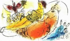 L'Accordeoniste by Marc Chagall