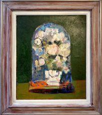 Boeket onder glazen stolp by Wim Oepts