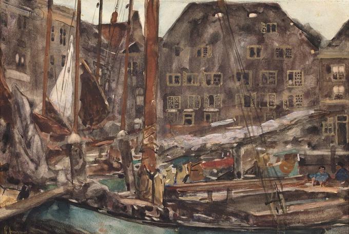 Harbour View of Dordrecht by Floris Arntzenius